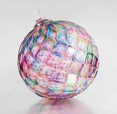 """""""Bejeweled"""" blown glass ornament by Paul Lockwood"""