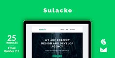 Sulacko Email Template   Online Emailbuilder 2.1 by web4pro We have submitted a new email template. It is created in a modern and clean design. This is a good tool for your business to tell about yourself and present your product in the best possible way.The Email builder isn¡¯t included in