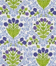 Robert Allen @ Home Woods Bouquet Blue Fabric