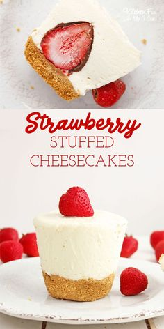 These tiny cheesecakes have a hidden tr… Chocolate Strawberry Stuffed Cheesecake. These tiny cheesecakes have a hidden treat inside: a chocolate covered strawberry. Such a delicious no-bake dessert. Brownie Desserts, Oreo Dessert, Mini Desserts, Chocolate Cheesecake, No Bake Desserts, Dessert Recipes, Dessert Chocolate, Chocolate Chocolate, Healthy Desserts