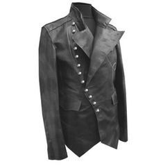 Safari Steampunk Anyone? Steampunk is a rapidly growing subculture of science fiction and fashion. Black Biker Jacket, Leather Jacket With Hood, Biker Leather, Leather Men, Real Leather, Cowhide Leather, Jacket Men, Leather Jackets, Custom Leather