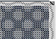 Dust Bunnies Under My Loom | networked twill | from Alice Schlein: Best of Weavers: Twill Thrills | 8-shaft, 10-treadle