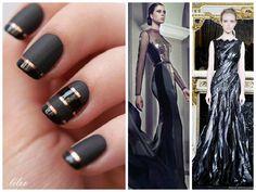 Back to Black #nailart #black #fashion #dress