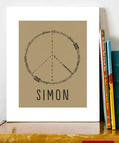 Loving this Peace Personalized Print on #zulily! #zulilyfinds