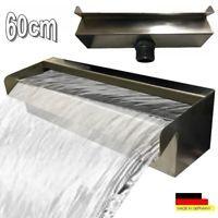 Wasserfall 60 Cm Edelstahl Waterfall Wasserspiel Kaskade V2a Made In Germany Zimmerbrunnen Diy Wasserbrunnen Wasserfall Edelstahl