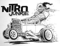 Line Art Rat Fink | jeff norwell art | The Jalopy Journal | DAP of RATFINK CARTOON ART (1) | Pinterest | Art, Art ...