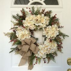 Hey, I found this really awesome Etsy listing at https://www.etsy.com/listing/208508059/christmas-wreath-holiday-wreath-winter