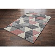Homesavers | Blush Geo Rug 110 x 150cm Geo, Blush, Textiles, Colours, Rugs, Supreme, Character, Home Decor, Style