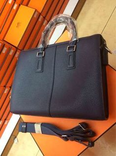 Hermes briefcase 37CM dark blue togo leather casual bag URL:http://www.hermesbagsshop.com