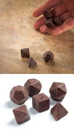Party Favors:  Chocolate dice. - wouldn't this be an amusing party treat?