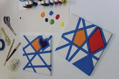 Here's a great way to make fun canvas art for kids. Read our Blog to see how easy it is.