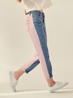 Not crazy about the pink, but I do enjoy this style of jean. It seems like a way to take a plain outfit up a notch