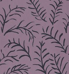 Sanderson Matisse Leaf Wallpaper - Mauve Cobalt