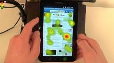 Eye tracking of mobile advertising