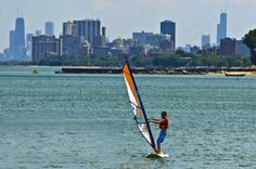 paddle boarding in chicago!