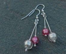 Murano glass double drop earrings by Firefrost