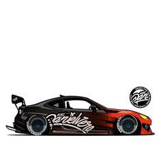 Toyota Tercel, Rc Drift Cars, Drifting Cars, Car Illustration, Car Drawings, Car Tuning, Car Painting, Modified Cars, Car Wrap
