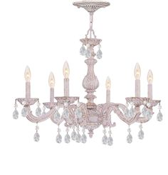 Buy the Crystorama Lighting Group Antique White Direct. Shop for the Crystorama Lighting Group Antique White Sutton 6 Light Wide Wrought Iron Candle Style Chandelier with Rose Hand Cut Crystal and save. Wrought Iron Accents, Crystal Chandelier, Shabby Chic Chandelier, Crystorama, Wrought Iron Chandeliers, Wrought Iron Candle, Candle Style Chandelier, White Chandelier, Traditional Chandelier