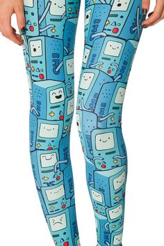Lovely Cartoon Print Leggings In Blue Color