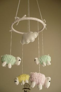 Sheep Baby Crib Mobile