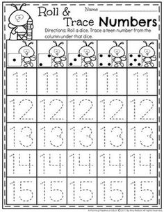 atividades educação infantil Teen Number Tracing Worksheets for Kindergarten you can find similar pins below. We have brought the best of the fo. Teaching Numbers, Numbers Kindergarten, Numbers Preschool, Kindergarten Math Worksheets, Number Worksheets, Tracing Worksheets, Writing Numbers, Math Numbers, Preschool Math