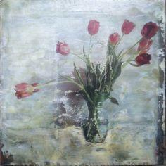 Ten Tulips | Ruth Martin-Maude encaustic