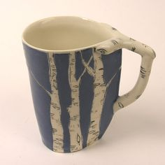 New Color Blue Birch Cup por josiegoestopot en Etsy Liquid Luck, Nerd Style, Nature Inspired, Humble Abode, Color Blue, Apartment Ideas, Birch, Tea Time, Stoneware