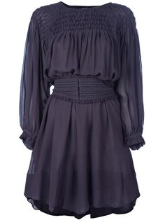 I want this Isabelle Marant purple dress.  Love the blouse sleeves.  So cute!