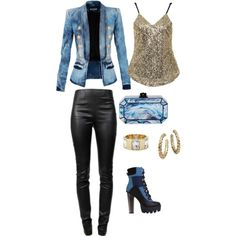 Created by Deranged Diva. Military Chic. A fashion look from January 2015 featuring Balmain blazers, Alexander Wang leggings and Edie Parker clutches. Browse and shop related looks.