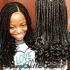 Braids, natural hair, kids hair styles, box braids