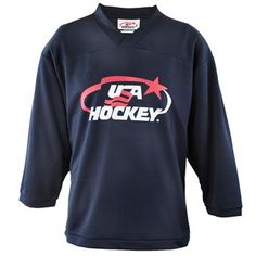 89b1fdfdf Practice hockey jersey comes in 4 colors  Jersey features the USA Hockey Arc    Star logo center chest.