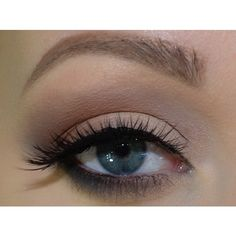 Ultimate Neutral Eye Makeup Look- Photos, Tutorial ❤ liked on Polyvore featuring beauty products, makeup, eye makeup, eyes, beauty, palette makeup and matte makeup