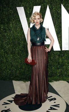 Oscar 2012 alfombra roja Vanity Fair: January Jones de Wes Gordon