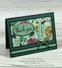 Clean and Simple card featuring the Share What You Love DSP in the New 2018 - 2019 Annual Stampin' Up! Created by Melissa Kerman from Melissa's Crafting Treehouse. Card Kit, I Card, Fun Fold Cards, Card Making Techniques, Halloween Cards, Paper Cards, Flower Cards, Greeting Cards Handmade, Paper Design