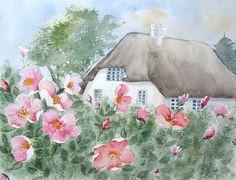 Sylter Rosen - Aquarell - Original - 24 x 30 cm