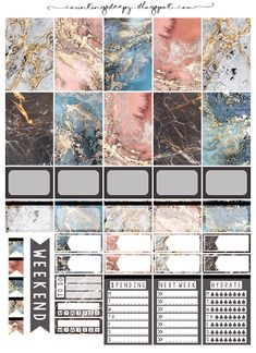 Counting Sheepy: Free Planner Printables – Colored Marble – My CMS To Do Planner, Passion Planner, Free Planner, Planner Pages, Happy Planner, 2015 Planner, Planner Diy, School Planner, Student Planner