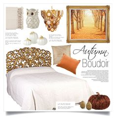"""""""Autumn Boudoir"""" by retrocat1 ❤ liked on Polyvore featuring interior, interiors, interior design, home, home decor, interior decorating, L'Objet, John Robshaw, Bebe and Dot & Bo"""