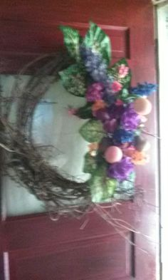 My spring wreath I made for front door!