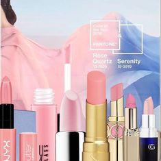 Lipsticks in Rose Quartz, pantone color of the year rose quartz, serenity pantone Makeup On Fleek, Makeup Kit, Makeup Tricks, Makeup Ideas, Ysl Rouge Volupte Shine, Best Makeup Brands, Rose Quartz Serenity, Rose Lipstick, Pantone Color