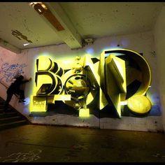 BOND keeping in golden Graffiti Wall Art, Graffiti Lettering, Golden Wall, Graffiti Pictures, Wildstyle, Letter Art, Urban Art, Cool Art, Art Gallery