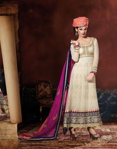 Beauteous Cream Embroidered Viscose & Georgette Base Salwar Kameez Design No :- 18557 Product :- Unstitched Salwar Kameez Size :- Max 40 Fabric :- Pure Georgette Work :- Resham, Jari, Embroidery, Diamond Work Stitching Charges :- र 400 Price :- र 7050  For Sales Queries :- sales@manjaree.in OR call on 0261-3131669  For More Information :- http://manjaree.in/  Follow Our Blog :- http://manjareefashion.blogspot.in/