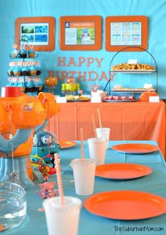 Octonauts Birthday Party Decorations, Ideas, DIY Party Favors & More - TheSuburbanMom Birthday Party Goodie Bags, Party Favors, Birthday Party Decorations Diy, 6th Birthday Parties, Third Birthday, Boy Birthday, Birthday Ideas, Frozen Birthday, Birthday Cakes