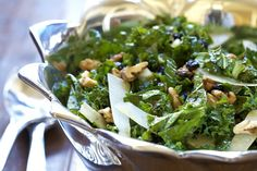 Kale Salad with Currants and Walnuts from @Carrie Mcknelly Vitt