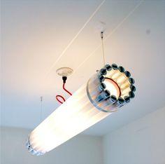 przetworzone jarzeniówki // repurposed fluorescent lamp