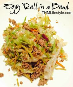 Paleo Egg Roll in a Bowl - use coconut aminos