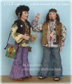 The Hippies is a commission delivered July 2016.  original porcelain dolls…