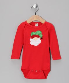 Take a look at this Petunia Petals Red Santa Bodysuit - Infant on zulily today!