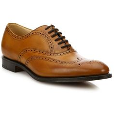 Church's Office Berlin Wingtip Leather Oxfords : Church's Shoes (900 AUD) ❤ liked on Polyvore featuring men's fashion, men's shoes, men's oxfords, apparel & accessories, old chestnut, mens oxford shoes, mens leather shoes, mens wing tip shoes, mens brogue shoes and mens leopard print shoes