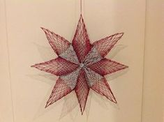 Stern im Halbschlag Star in the half-stroke Tree Decorations, Christmas Decorations, Christmas Ornaments, Holiday Decor, Bobbin Lace Patterns, Lace Heart, Lace Jewelry, Tatting Lace, Christmas Star