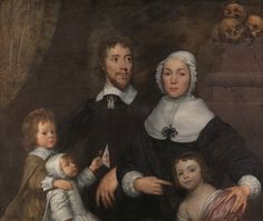 William Dobson, 1611–1646, British, Portrait of a Family, Probably that of Richard Streatfeild, ca. 1645, Oil on canvas, Yale Center for British Art, Paul Mellon Collection